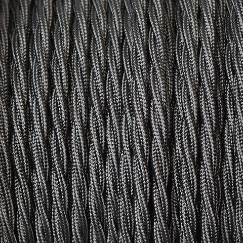 Fabric Cable | Twisted | Graphite Grey - Vendimia Lighting Co.
