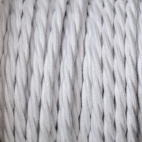 Fabric Cable | Twisted | Brilliant White - Vendimia Lighting Co.