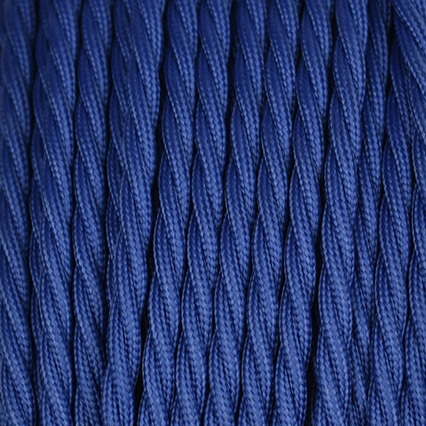 Fabric Cable | Twisted | Navy Blue - Vendimia Lighting Co.