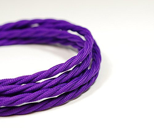 Fabric Cable | Twisted | Imperial Purple - Vendimia Lighting Co.
