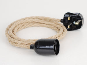 Plug-in Pendant | Twisted Fabric Cable | Hemp Rope - Vendimia Lighting Co.