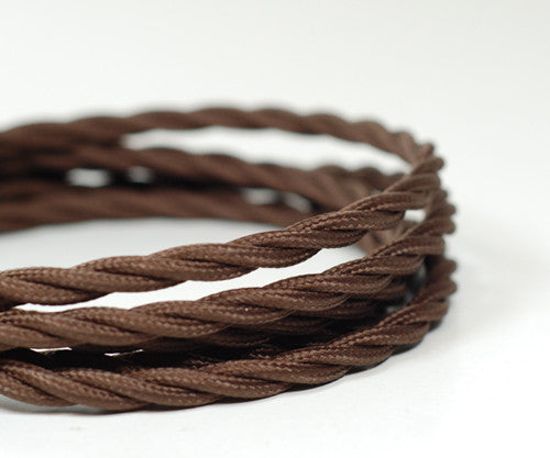 Twisted Fabric Cable | Chocolate Brown