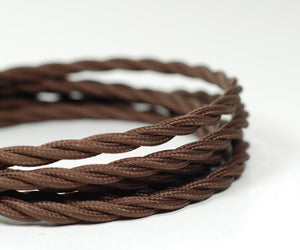 Fabric Cable | Twisted | Chocolate Brown - Vendimia Lighting Co.