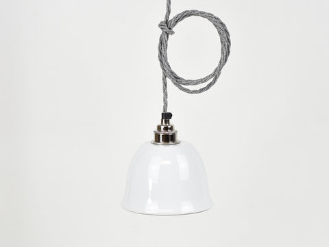 Ceiling Light | Bell Enamel Shade | Brilliant White - Vendimia Lighting Co.