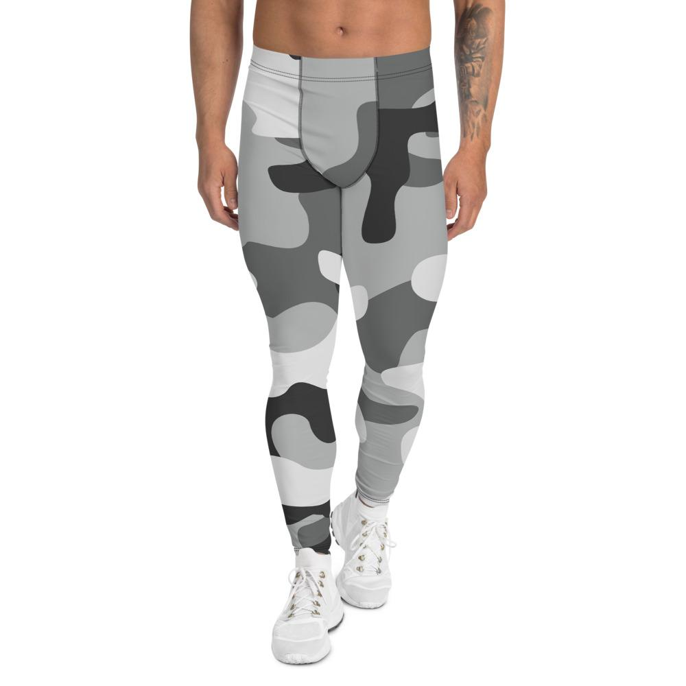 Men's Compression Pants Gray Camouflage GearRex XS