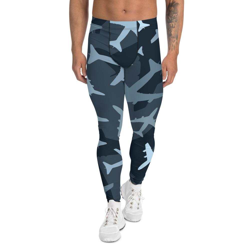 Men's Compression Pants Camouflage Airplanes GearRex XS