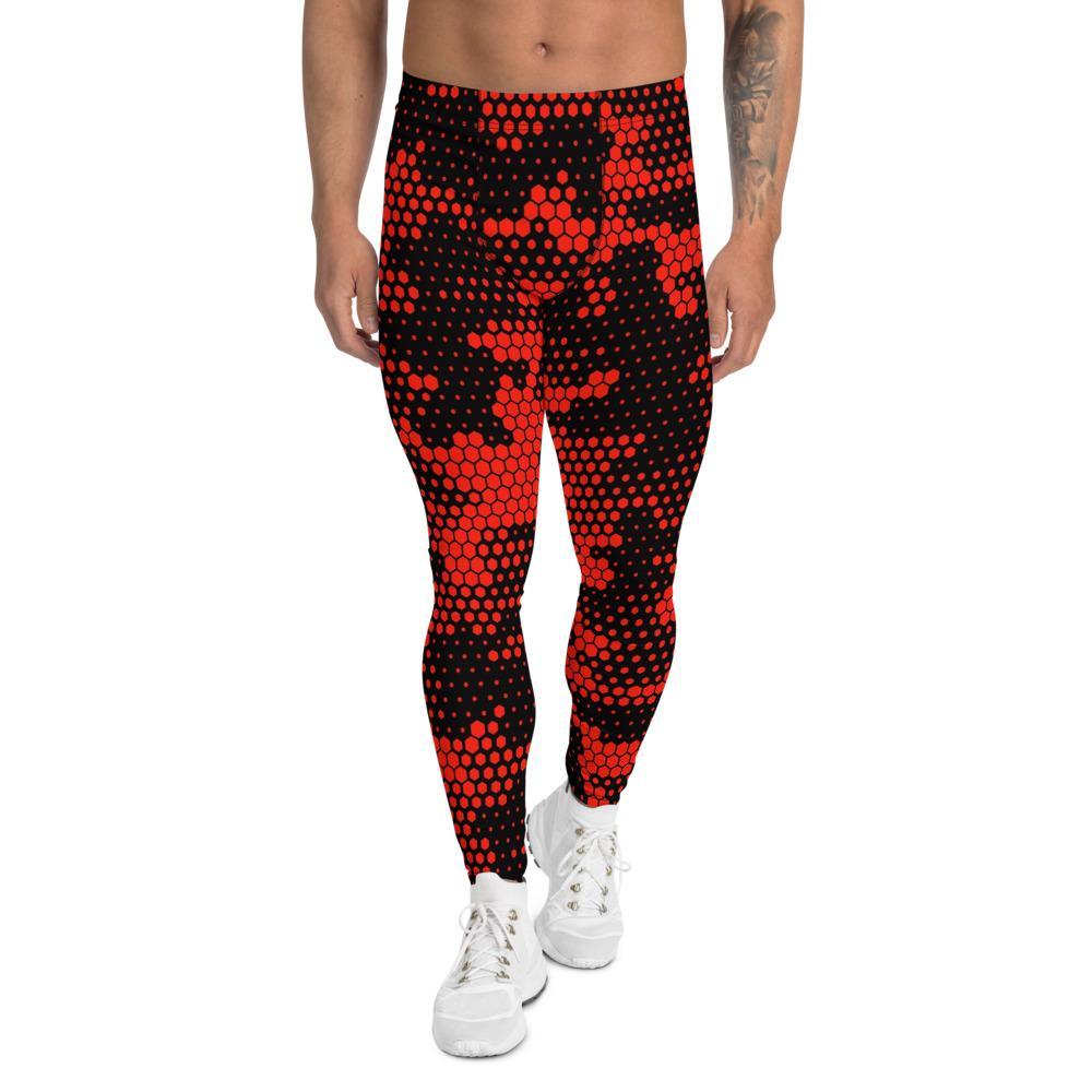 Men's Compression Pants Red Camouflage GearRex XS