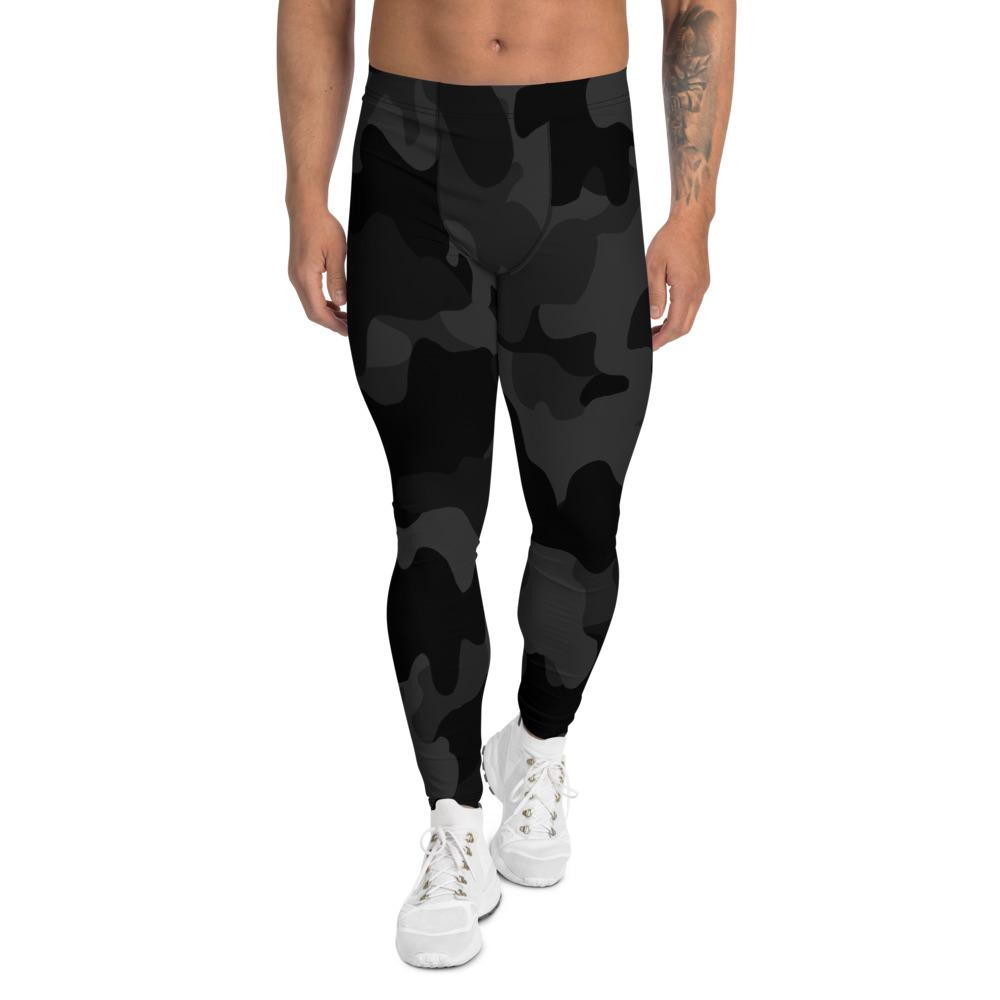 Men's Compression Pants Black Camouflage GearRex XS