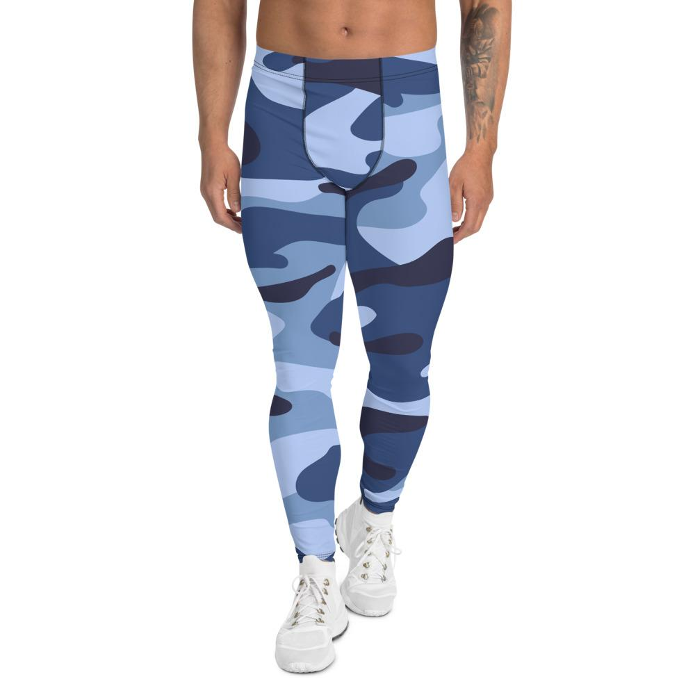Men's Compression Pants Blue Camouflage GearRex XS