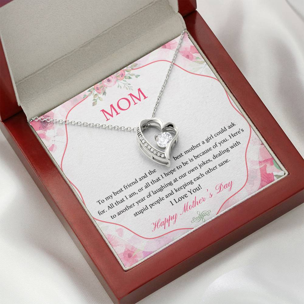 Mother's Day - Mom Necklace Jewelry ShineOn Fulfillment Mahogany Style Luxury Box