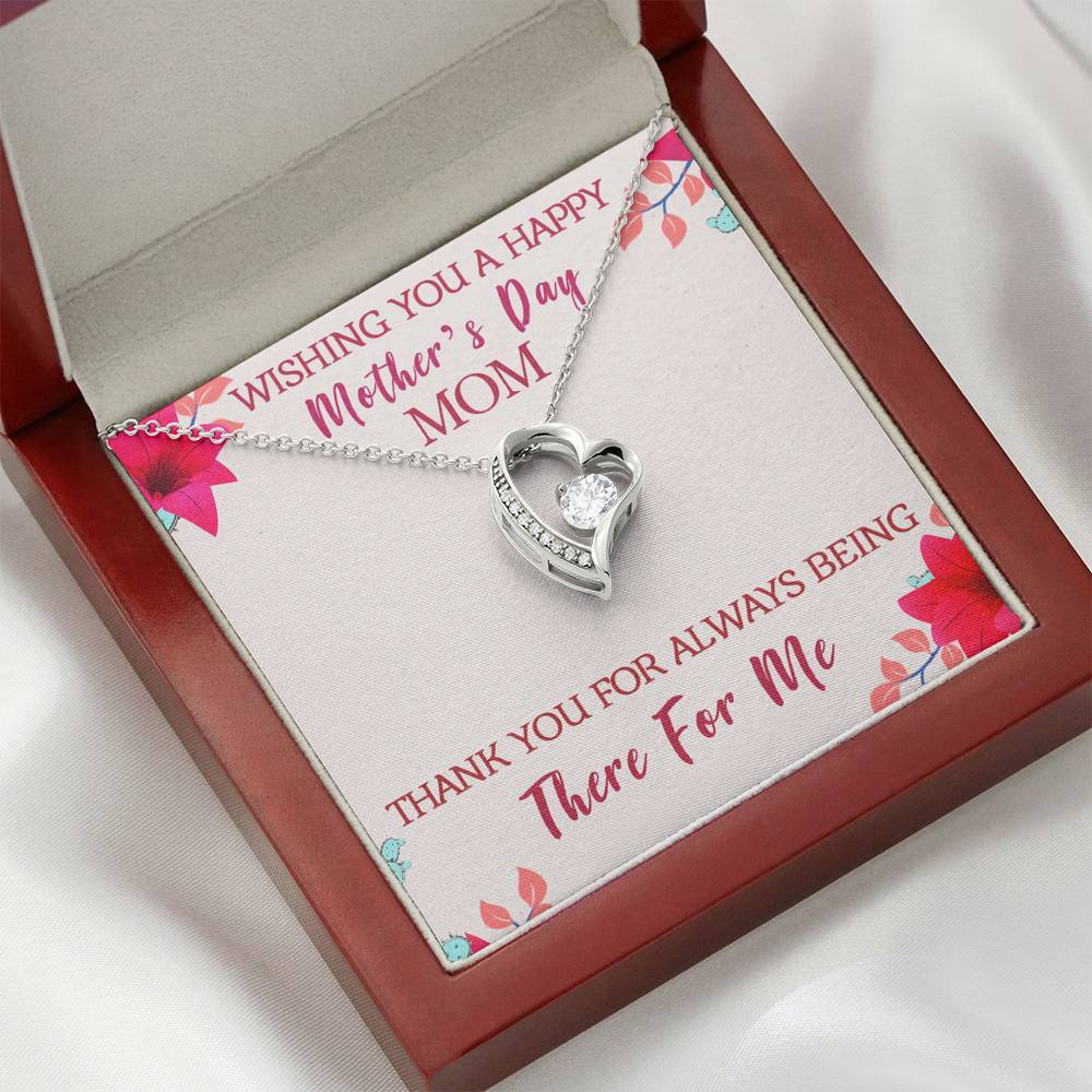 Happy Mother's Day Forever Love Necklace Jewelry ShineOn Fulfillment Mahogany Style Luxury Box