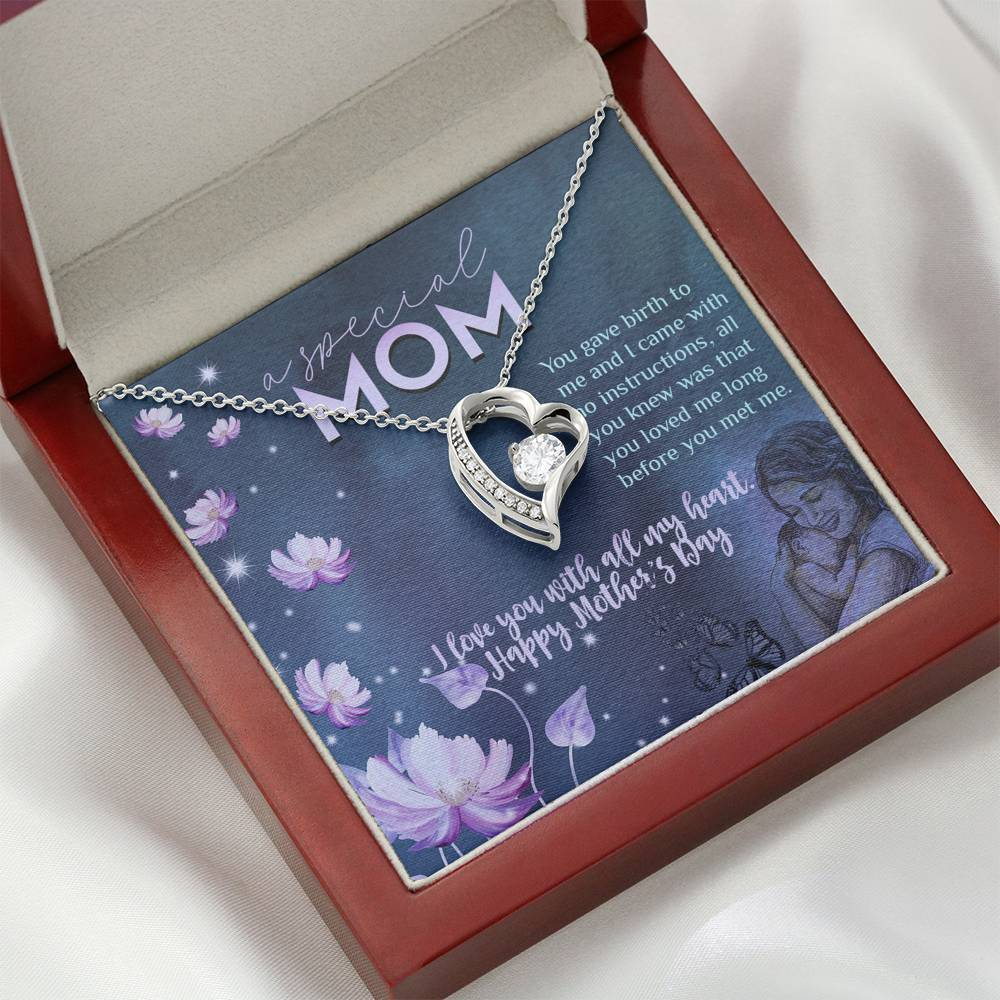 Happy Mother's Day - A Special Mom Necklace Jewelry ShineOn Fulfillment Mahogany Style Luxury Box