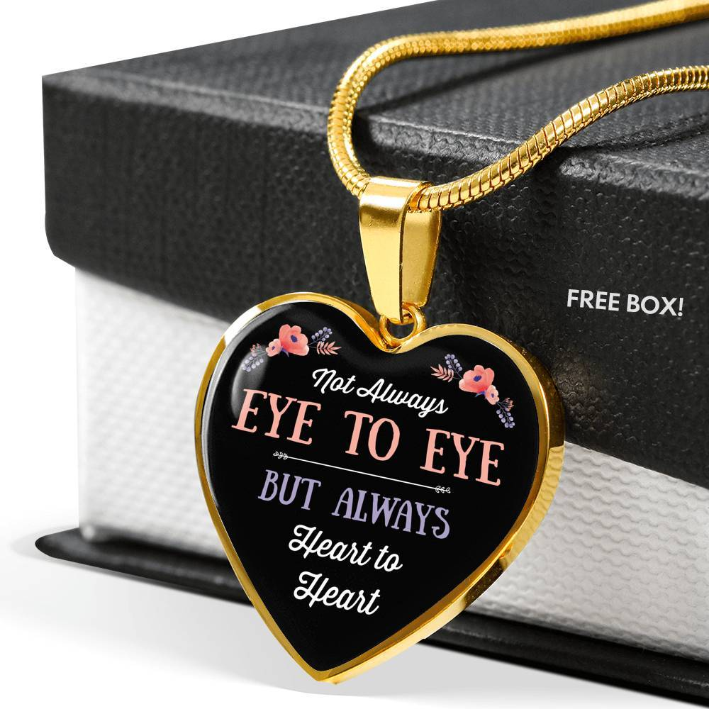 eye to eye silver necklace/bangle with heart charm