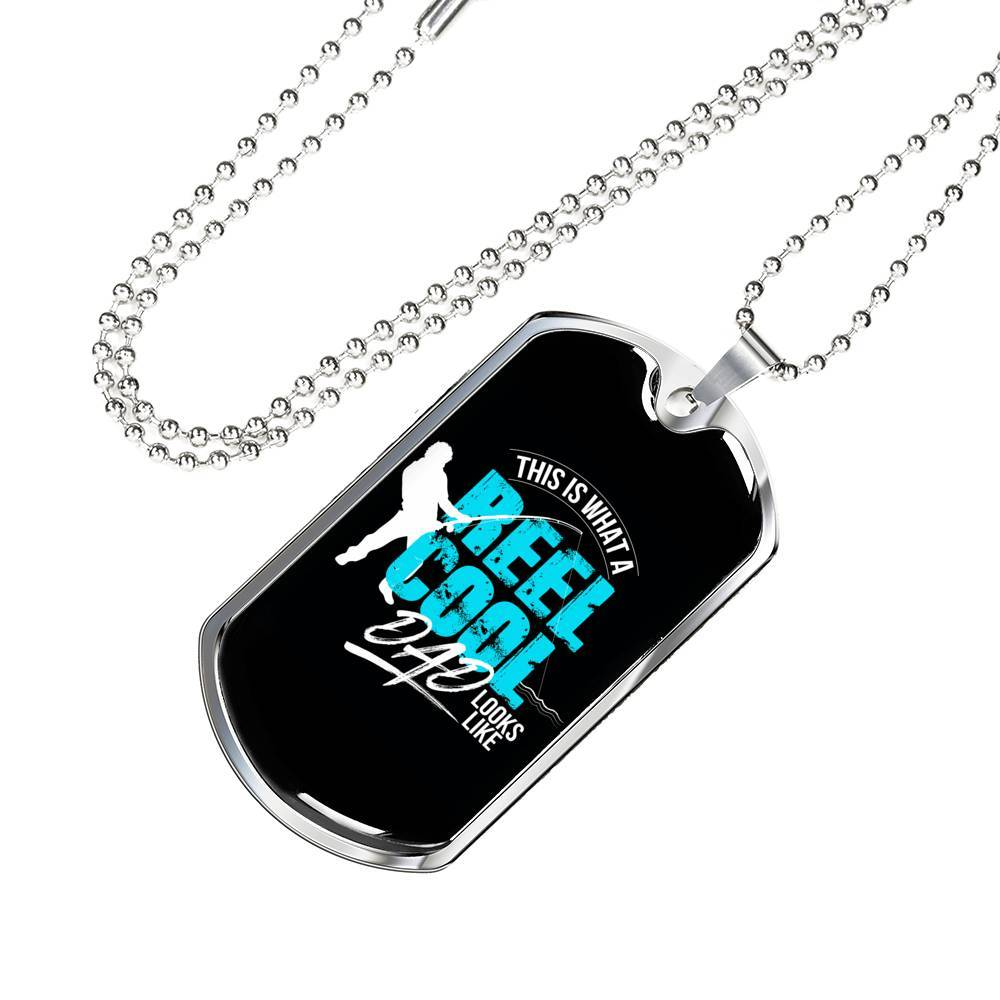 Reel Cool Dad Dog Tag Jewelry ShineOn Fulfillment