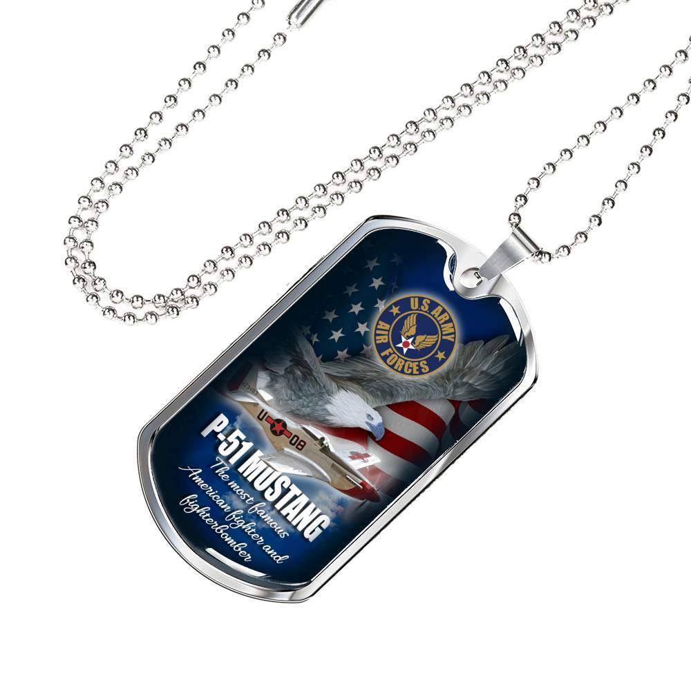 P-51 Mustang - Dog Tag Jewelry ShineOn Fulfillment