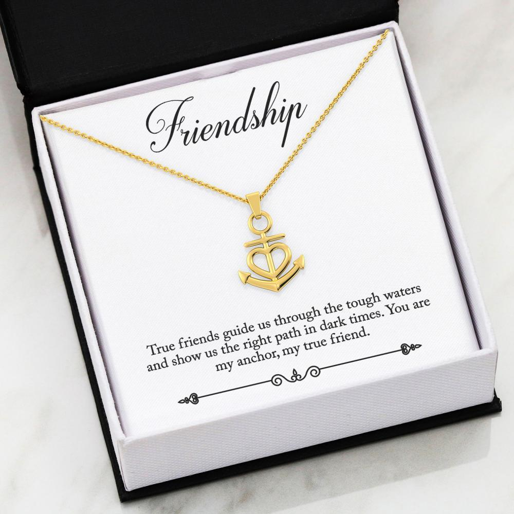 Friendship Anchor Necklace Jewelry ShineOn Fulfillment