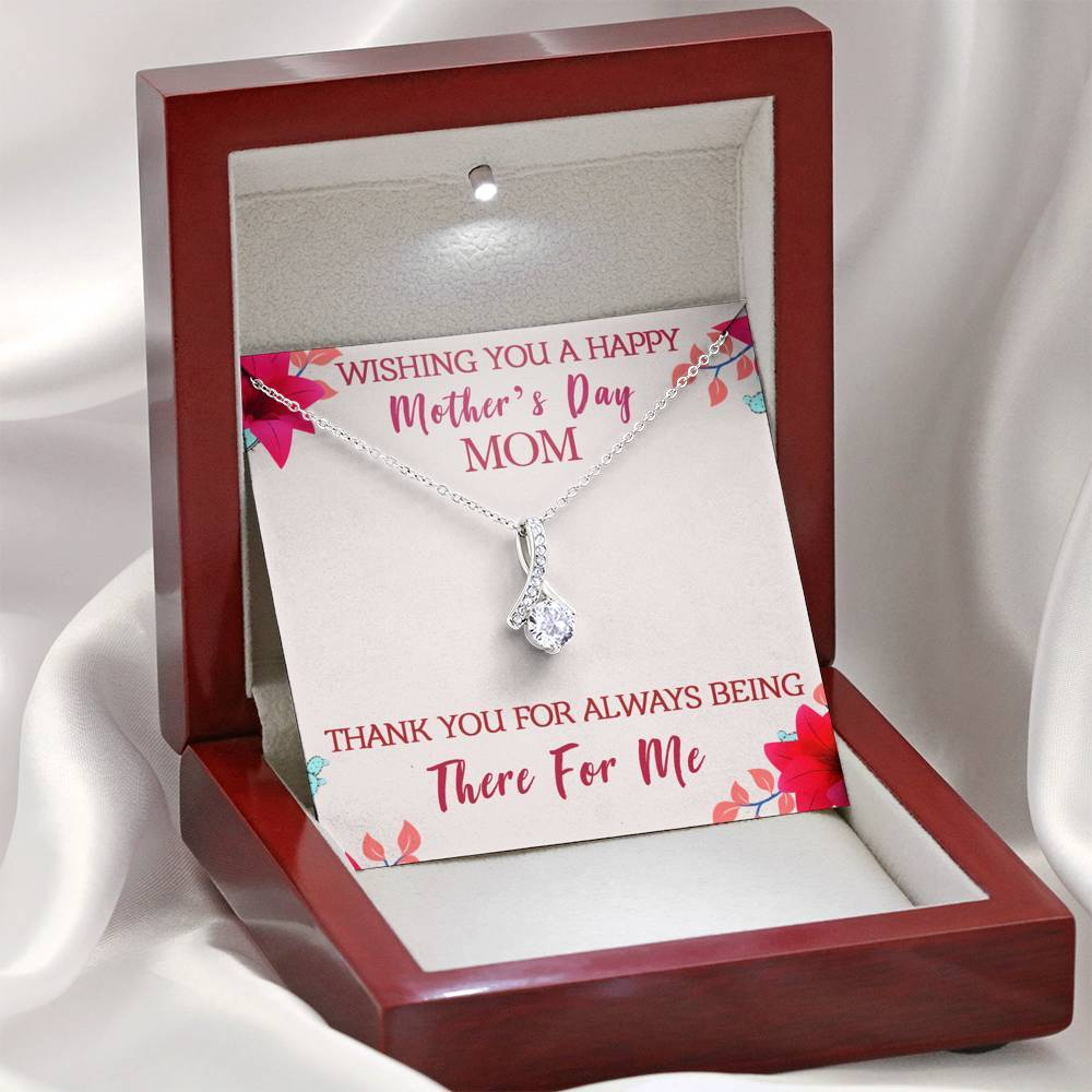 Happy Mother's Day Alluring Beauty Necklace Jewelry ShineOn Fulfillment Mahogany Style Luxury Box