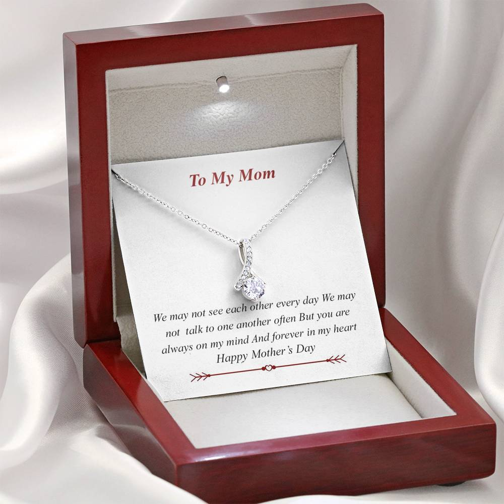 To My Mom - Alluring Beauty Necklace Jewelry ShineOn Fulfillment Mahogany Style Luxury Box