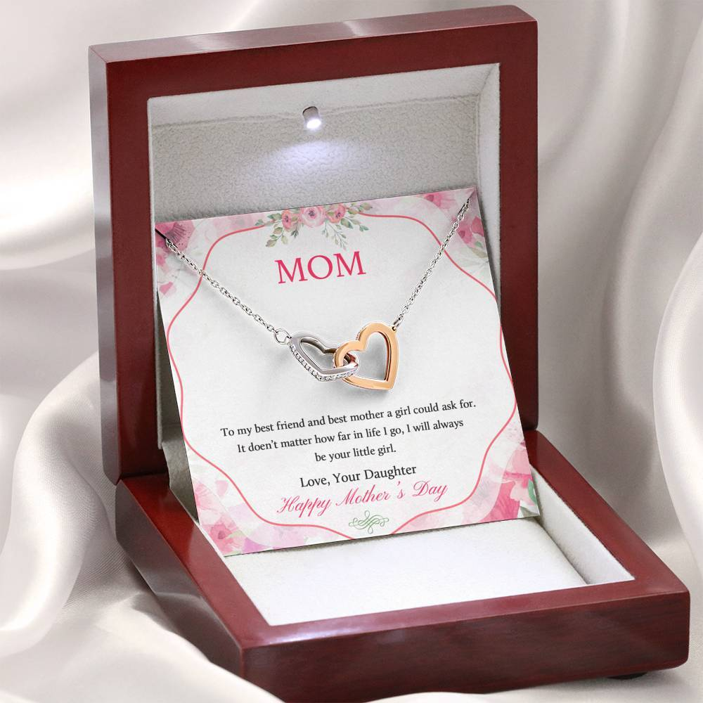 Happy Mother's Day - Best Mom Necklace Jewelry ShineOn Fulfillment Mahogany Style Luxury Box