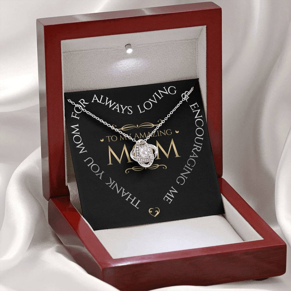 To My Mom -Alluring Beauty Necklace Jewelry ShineOn Fulfillment Mahogany Style Luxury Box