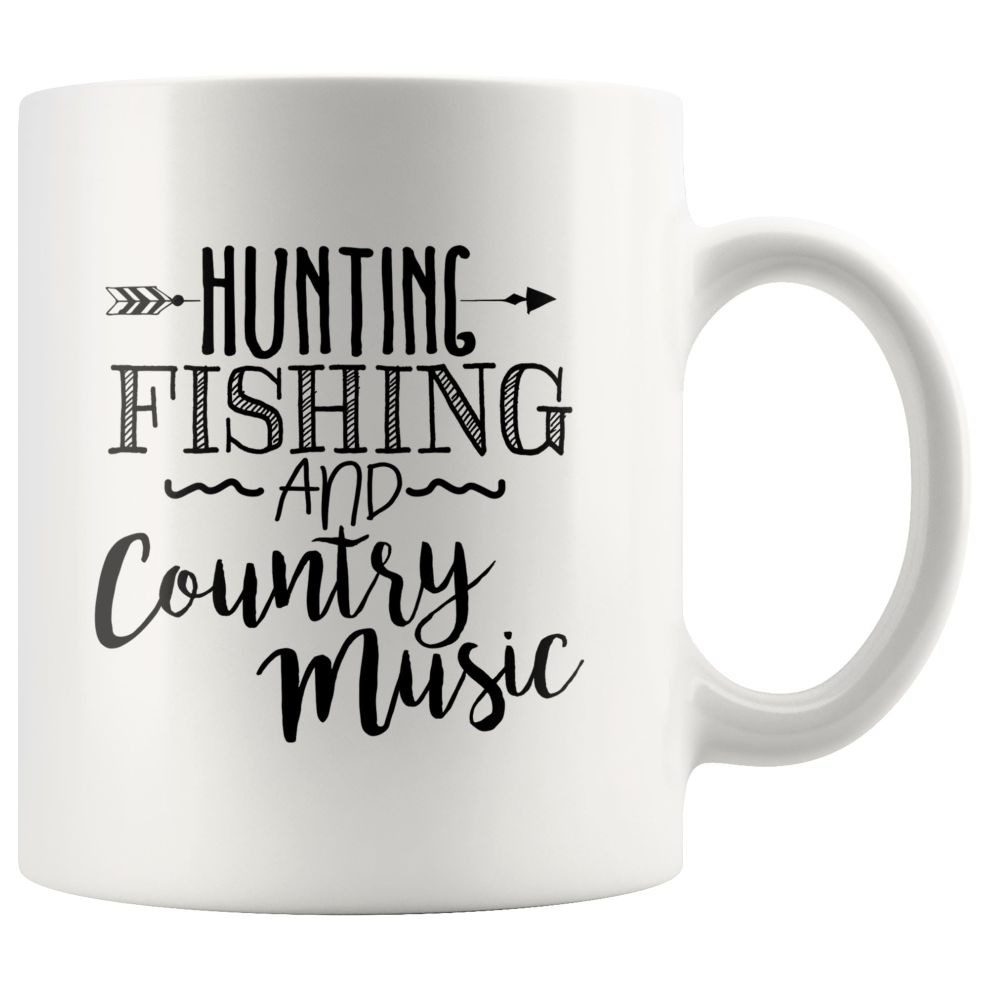 Hunting Fishing and Country Music Drinkware teelaunch 11oz Mug