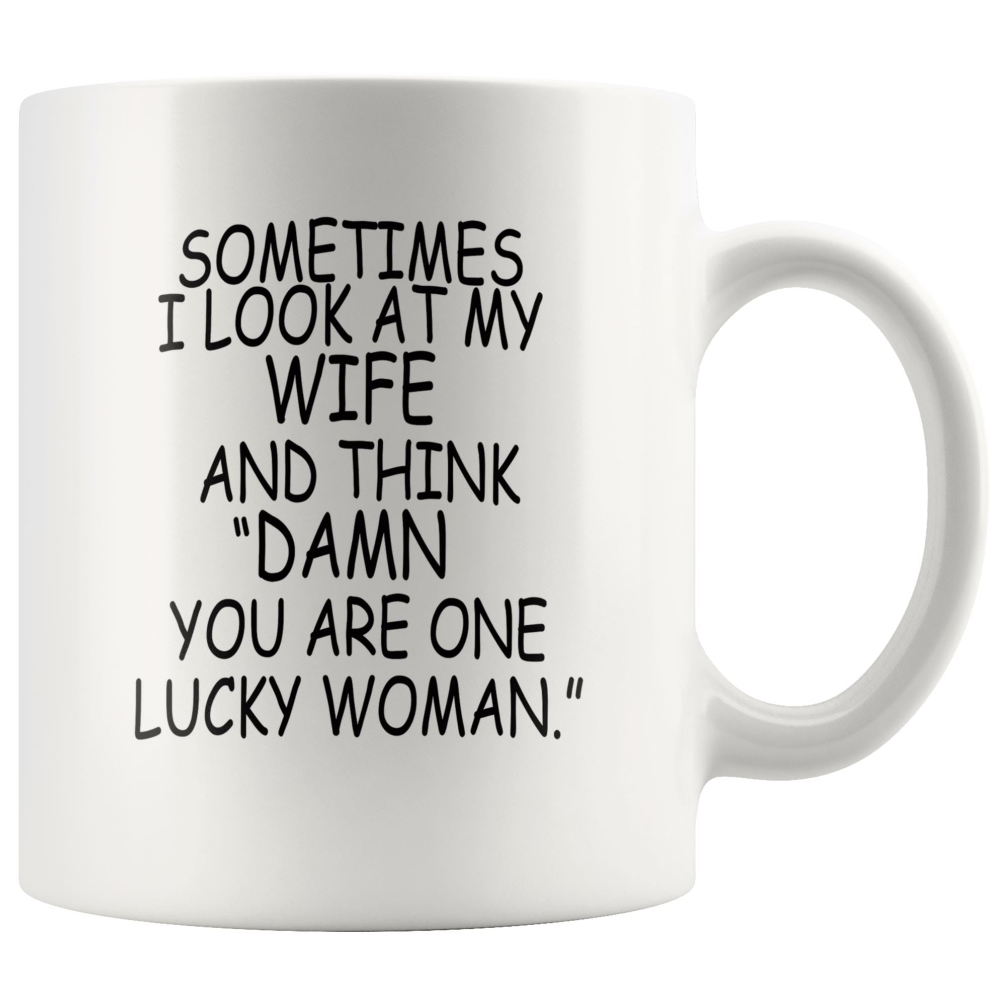 One Lucky Wife Mug Drinkware teelaunch 11oz Mug