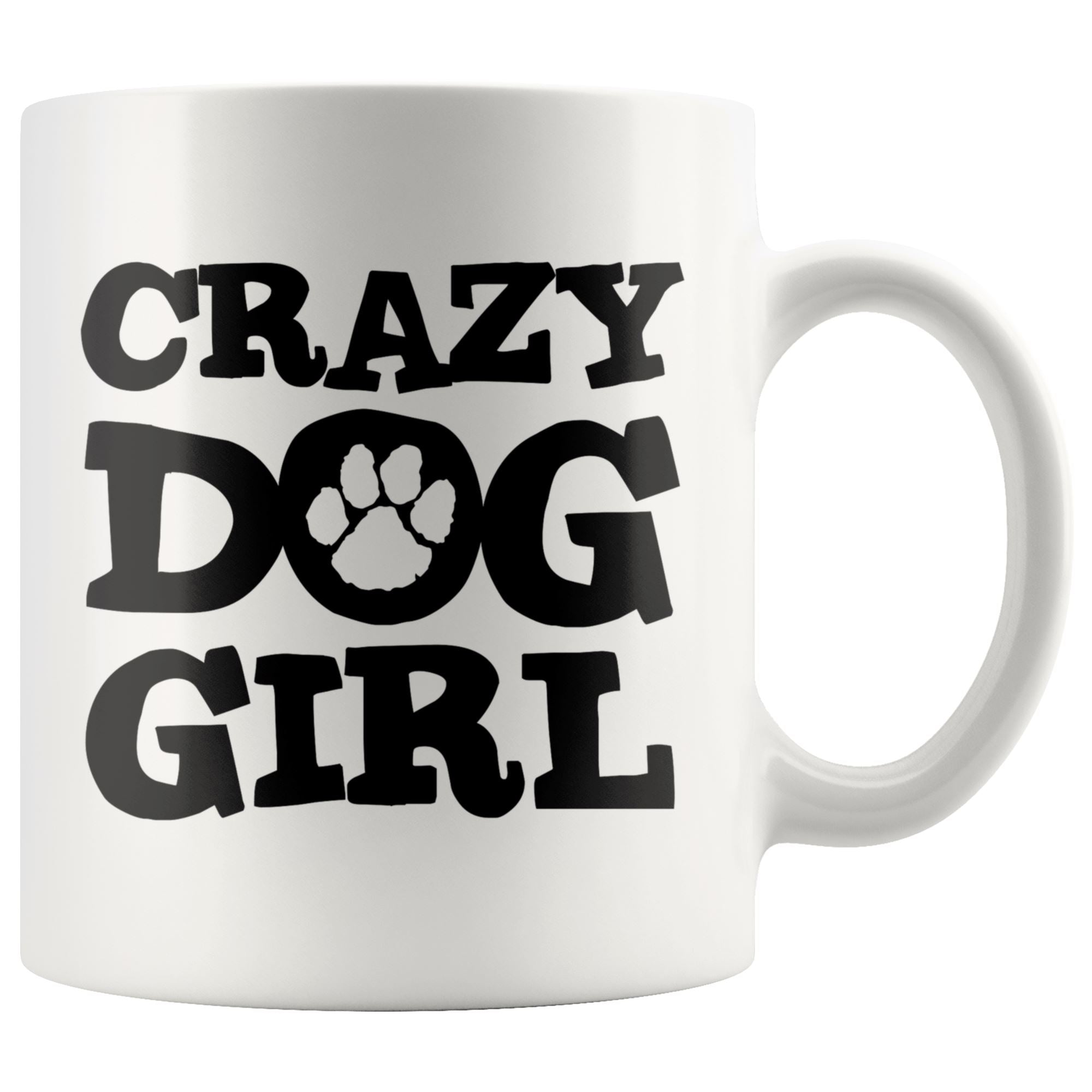 Crazy Dog Girl Mug Drinkware teelaunch 11oz Mug