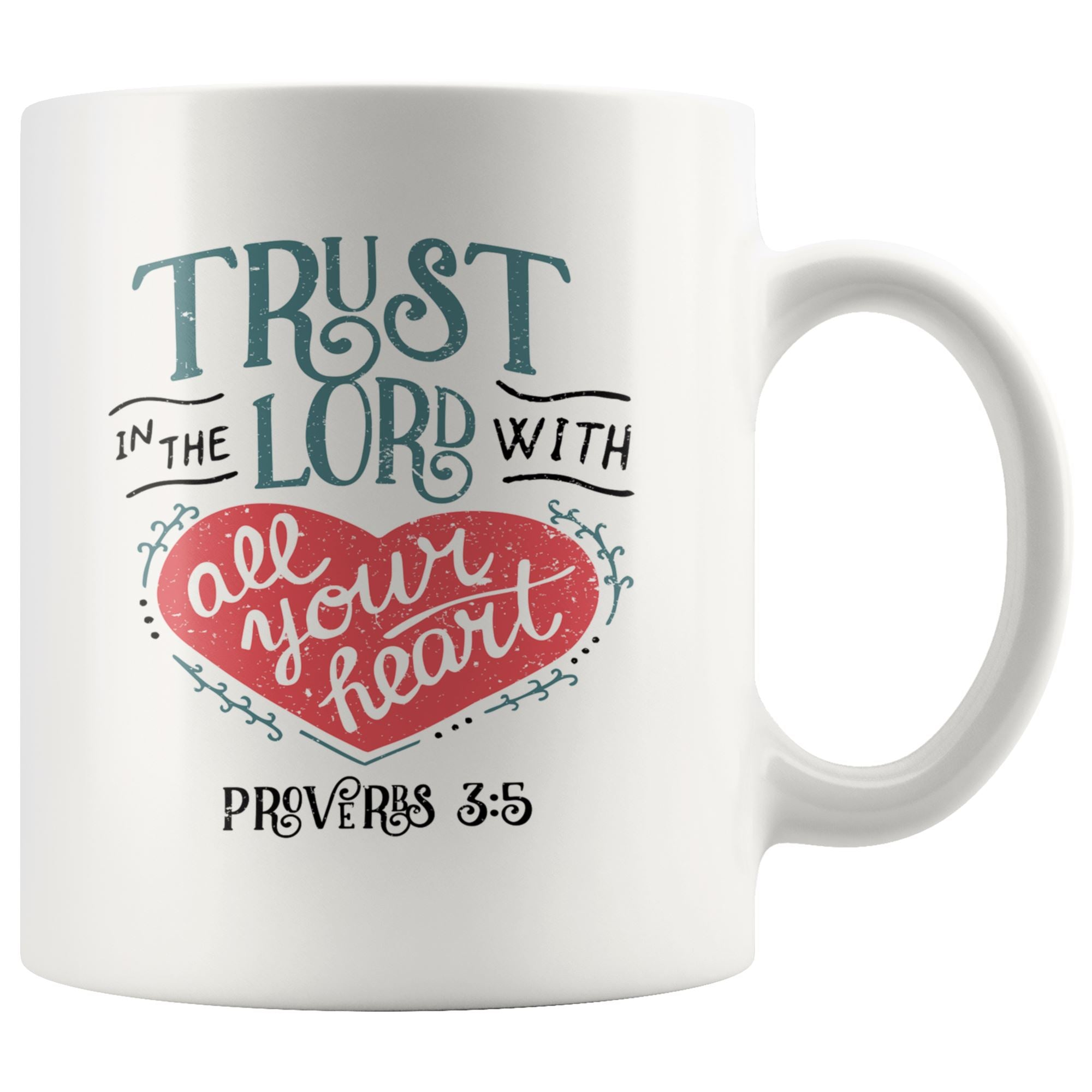 Trust in The Lord Mug Drinkware teelaunch 11oz Mug