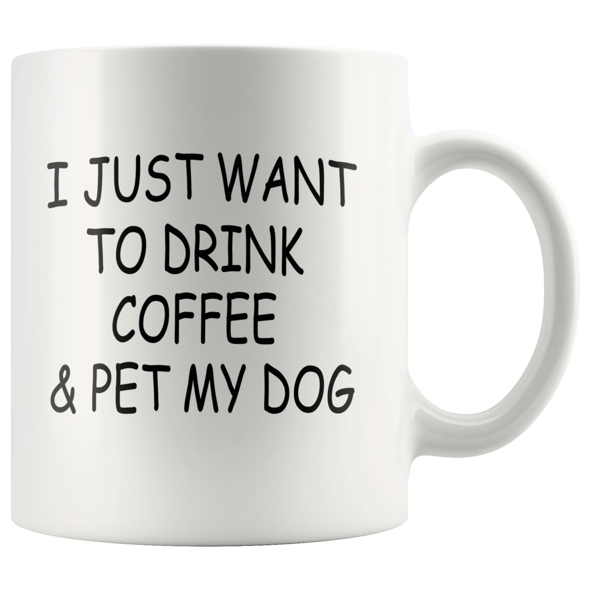 Pet My Dog Coffee Mug Drinkware teelaunch 11oz Mug