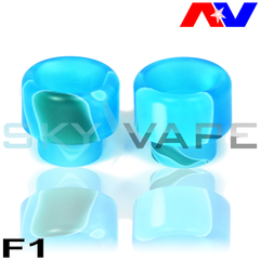 Blue Acrylic Drip Tips By Avid Lyfe (AV Lyfe)