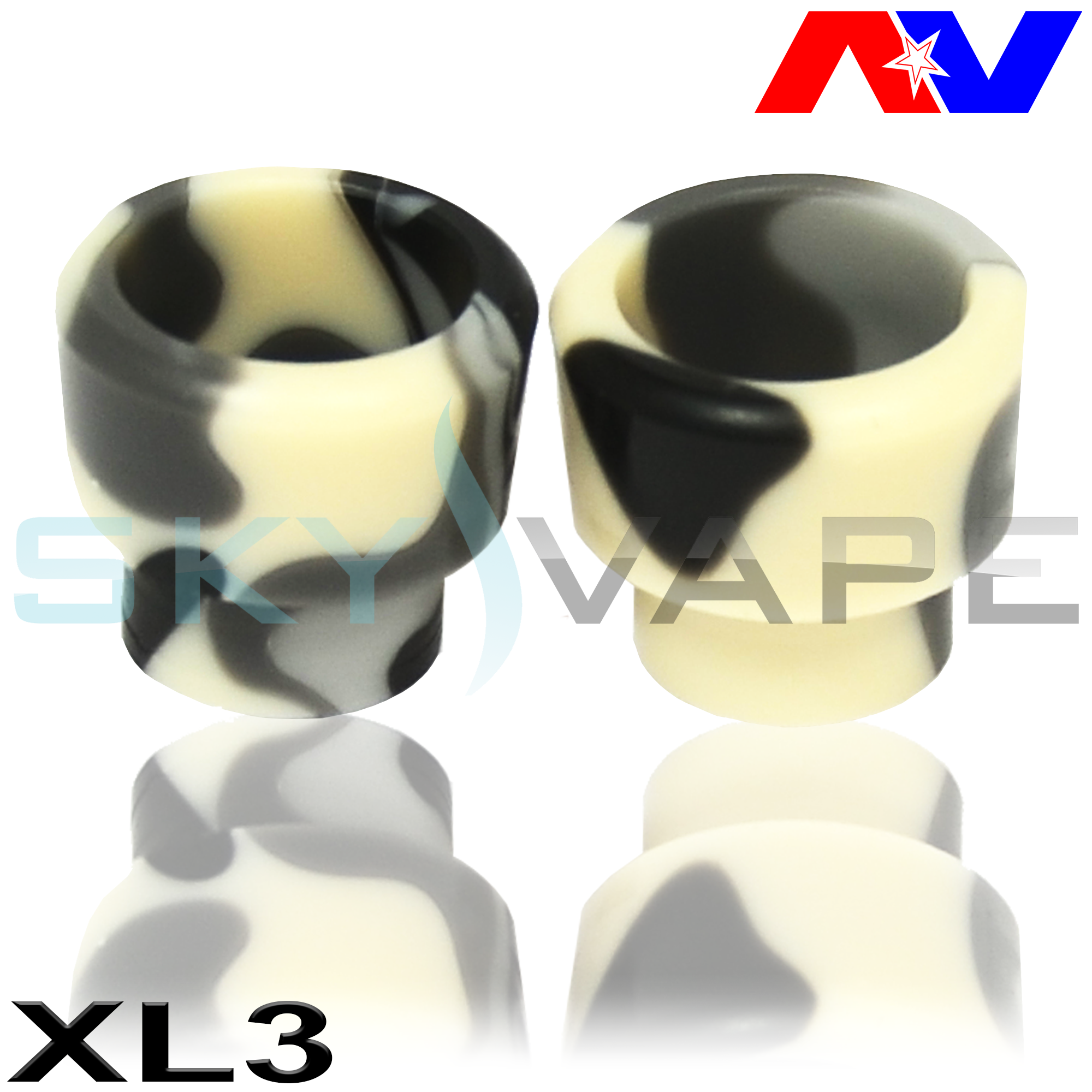 Wide Bore Acrylic Drip Tips By Avid Lyfe (AV Lyfe)