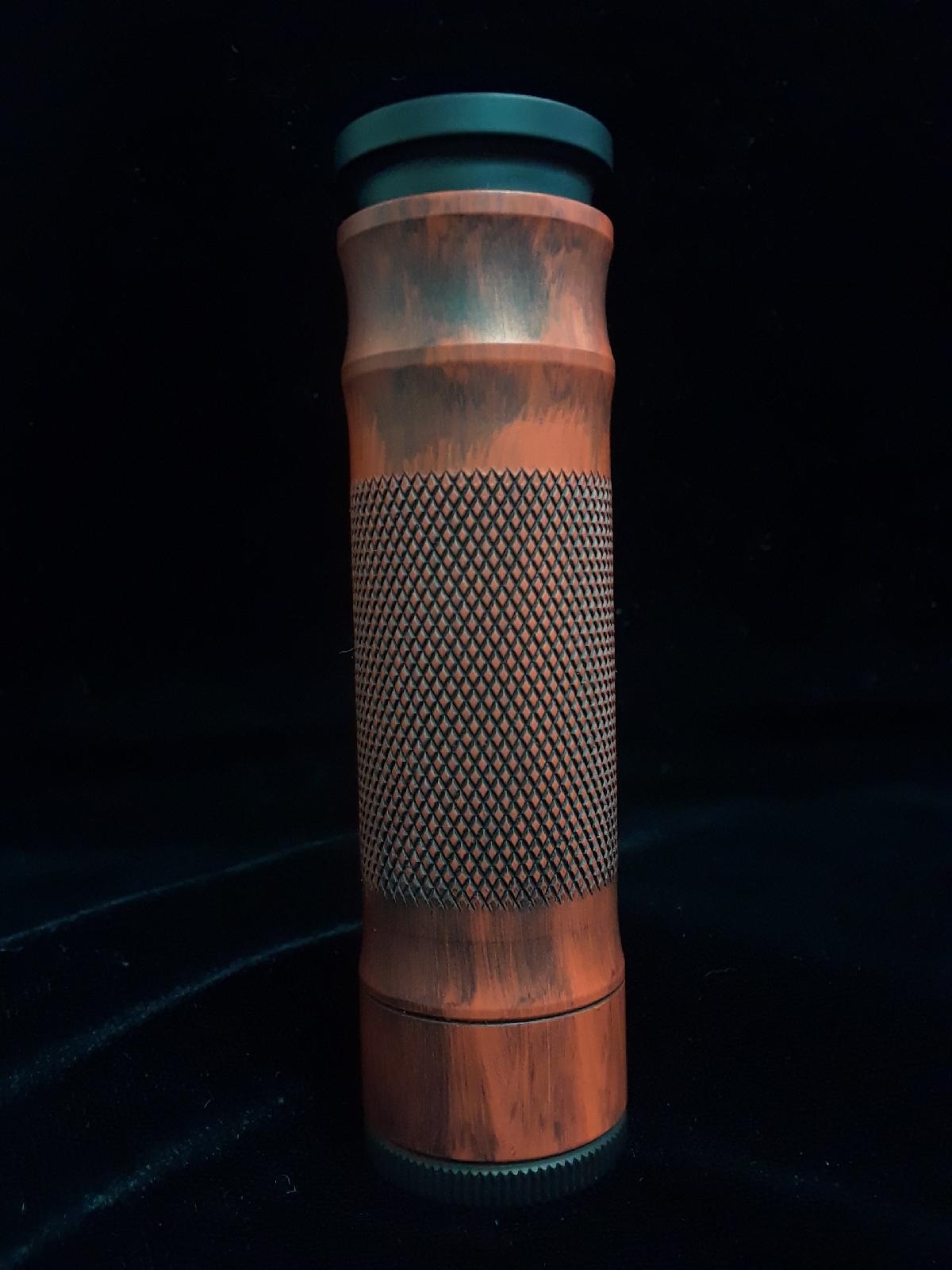 Avid Lyfe Orange & Black Distressed M1P5 Mech Mod