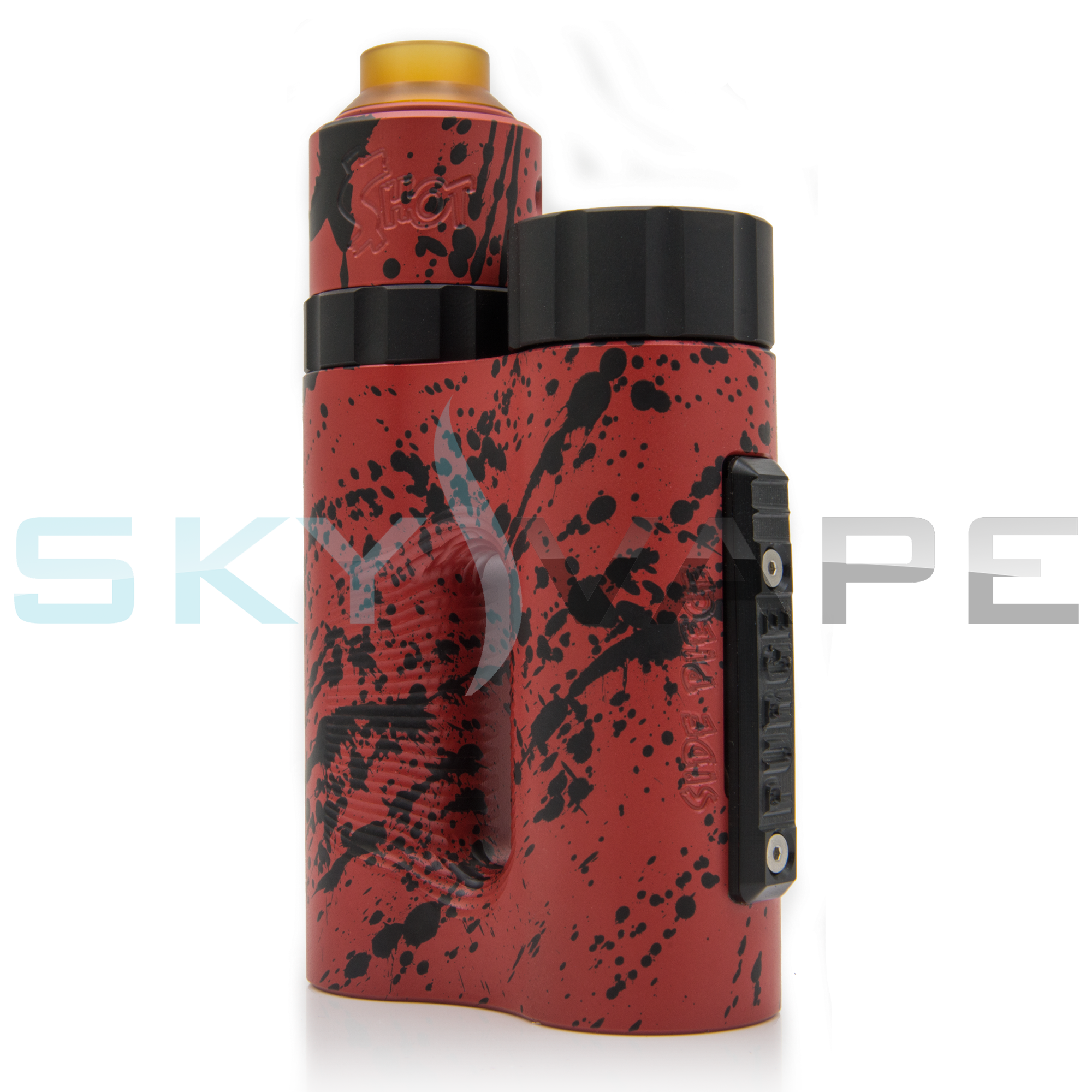 Purge Mods Red Black Splatter Side Piece Box Mod