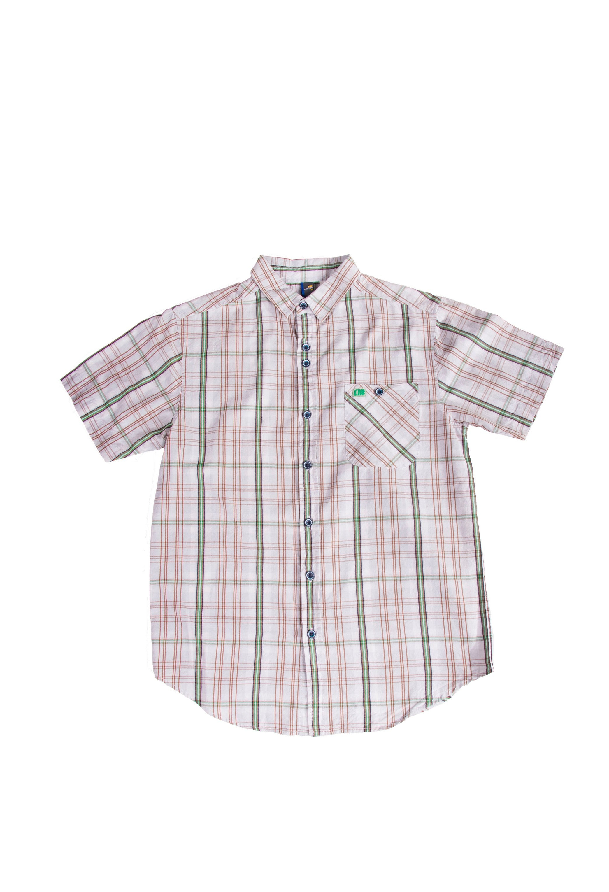 Alphanumeric Petrozavodsk Plaid Short-sleeve