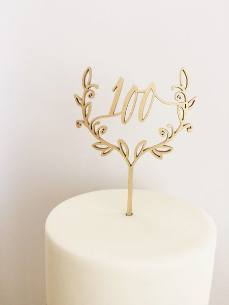100 Day- Cake Topper