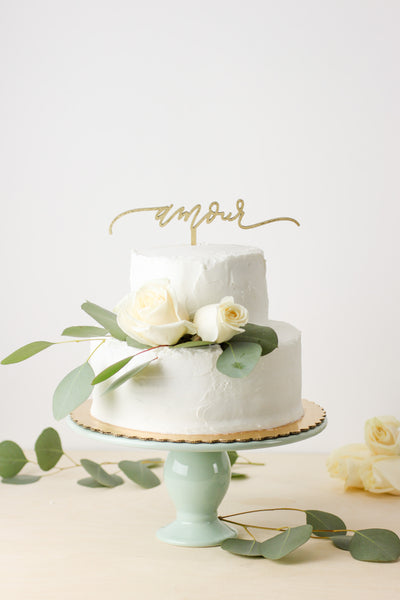 Amour- Cake Topper