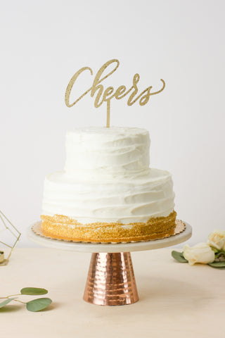 Cheers- Cake Topper
