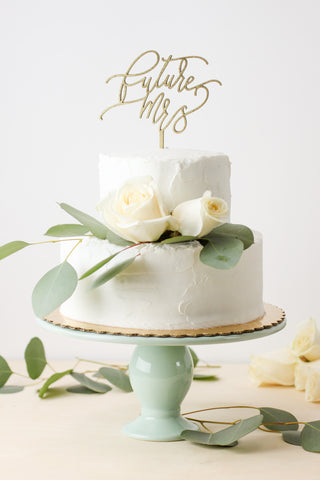 Future Mrs- Cake Topper