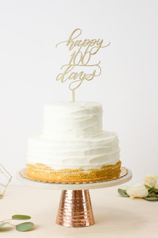 Happy 100 Days- Cake Topper