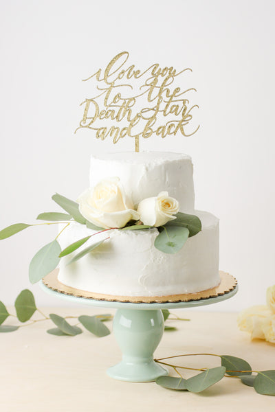 Star Wars: I Love You to the Death Star and Back- Cake Topper