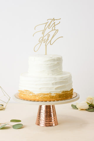 It's A Girl- Cake Topper