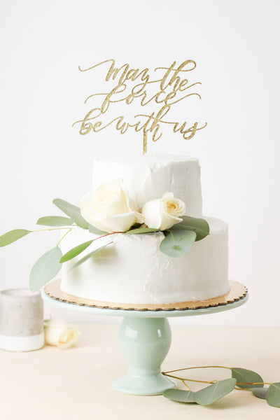 Star Wars: May the Force Be With Us- Cake Topper