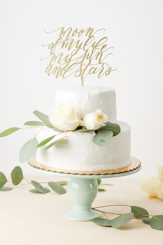 Game of Thrones quote: Moon of my life my sun and stars- Cake Topper
