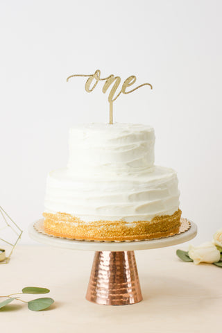 First birthday 'One'- Cake Topper