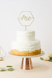 Geometric 'One' First Birthday- Cake Topper