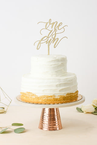 One is Fun- Cake Topper