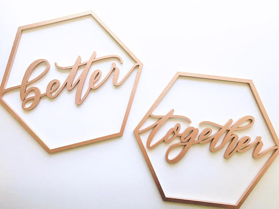 Better Together Geometric- Chair Backs