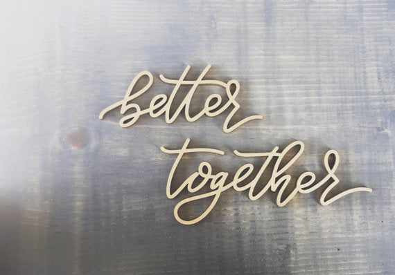 Better Together- Place Card Settings