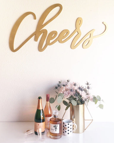 Cheers- Large Wedding Sign
