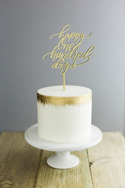 Happy One Hundred Days- Cake Topper